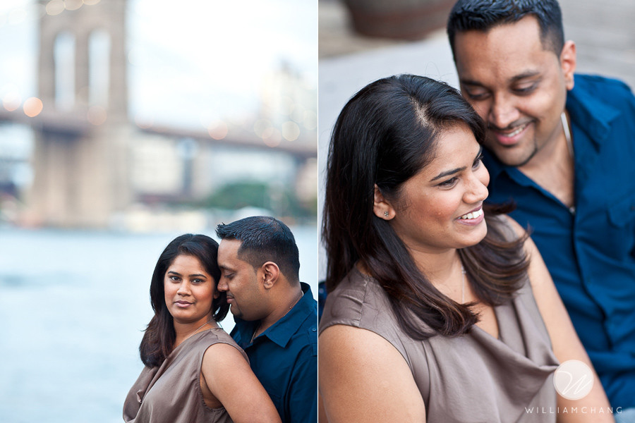 South Street Seaport Engagement Photos | Roshani + Jeevan