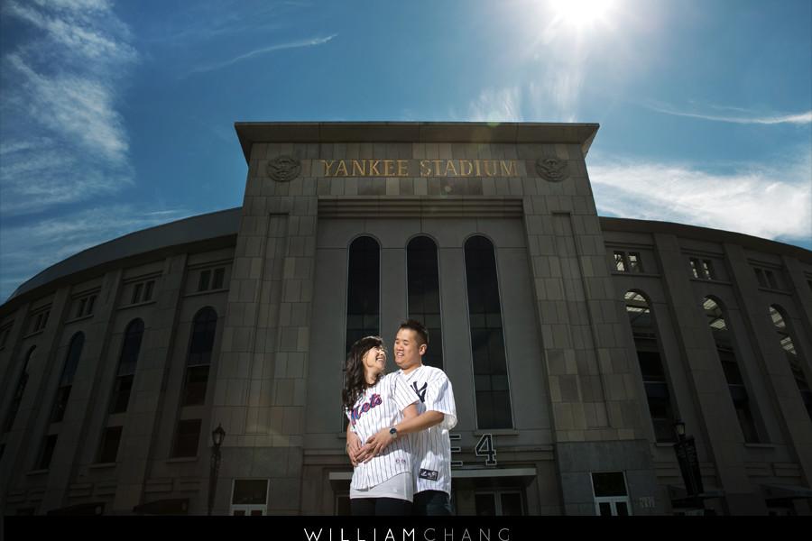 Yankee Stadium Citi Field Engagement Photos   Wendy + Eric
