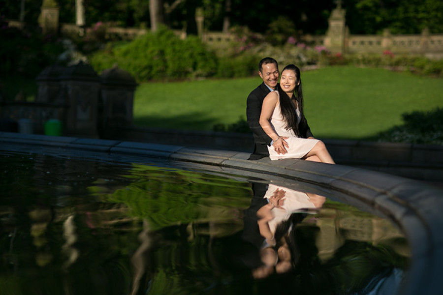 Central Park Engagement photos | Jenny + Rong